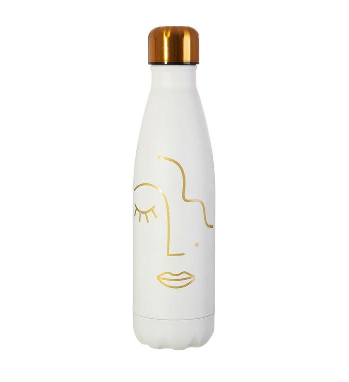 Sass & Belle Roestvrij stalen fles uit de Abstract Faces collectie