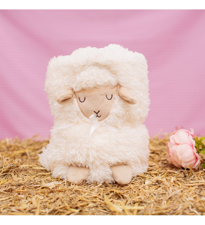 Sass & Belle Baa Baa Lamb babydeken van zachte fleece uit de farmyard friends collectie