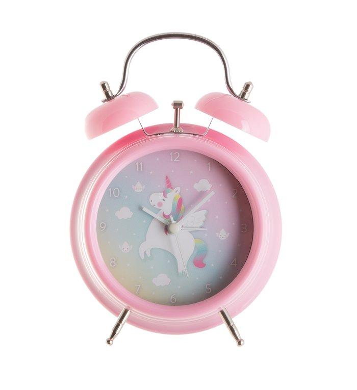 Sass & Belle eenhoorn wekker voor de kinderkamer uit de Rainbow Unicorn collectie