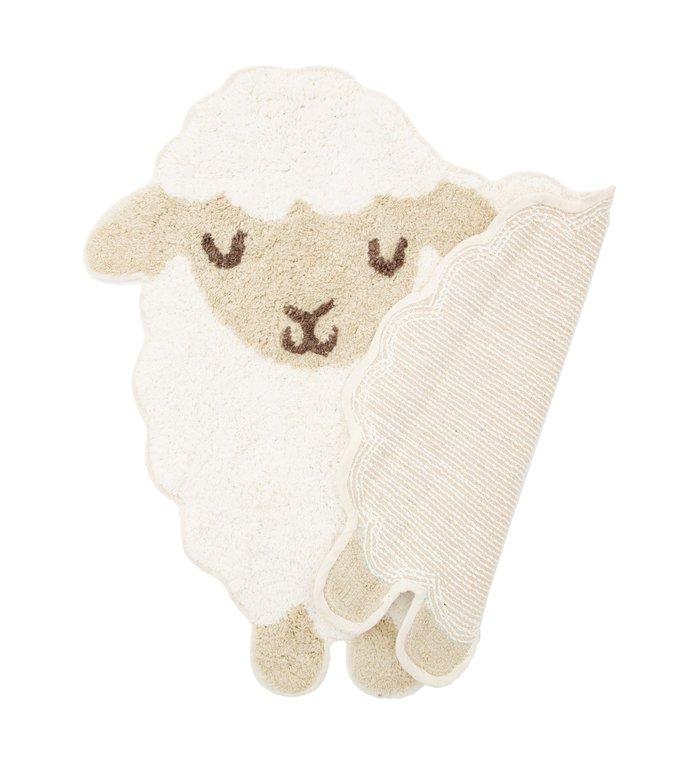 Sass & Belle vloerkleedje voor de kinderkamer met schattig lammetje uit de Farmyard Friends collectie