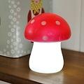 Rex London paddenstoel nachtlampje rood met witte stippen