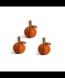 Oranje Halloween Pompoenen - set van 3