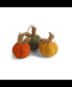 Kleurige Halloween Pompoenen - set van 3