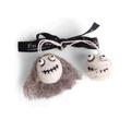 Én Gry & Sif handgemaakte vilten mummie en Halloween hoofd met grijs haar - Halloween versiering - decoratie hangertjes