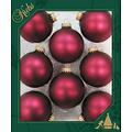 Glazen matte kerstballen cranberry rood effen 7 cm