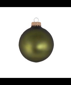 Kerstballen Bosgroen Mat