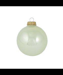 Kerstballen Parel kleur glanzend