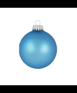 Kerstballen IJsblauw Mat