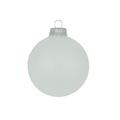 Glazen matte kerstballen sneeuw wit effen 7 cm
