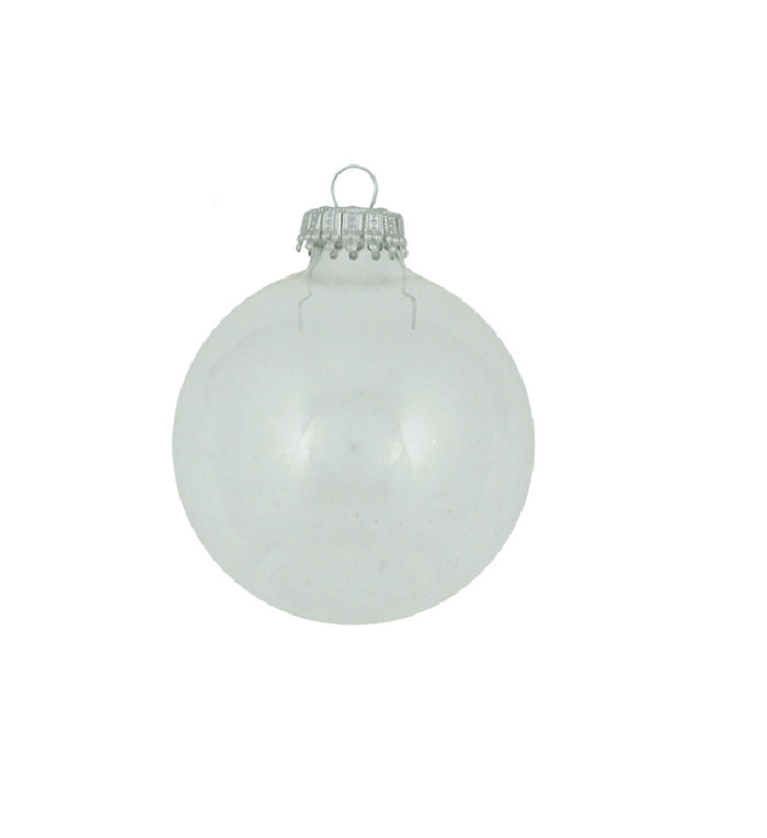 Glazen kerstballen transparant effen 7 cm