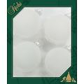 Glazen kerstballen bevroren wit effen 8 cm