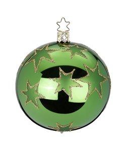 Kerstbal Groen met Goud Stars of Christmas