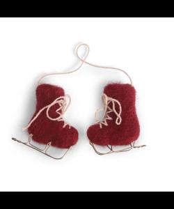 Kerstboomhanger Vilten Rode Schaatsen