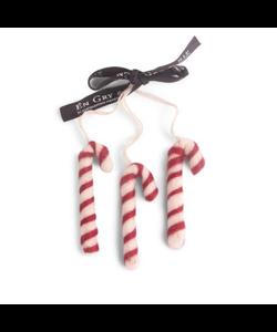 Kerstboomhangers Zuurstokken rood en wit - set van 3