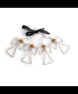 Kerstboomhangers Witte Engeltjes - set van 4
