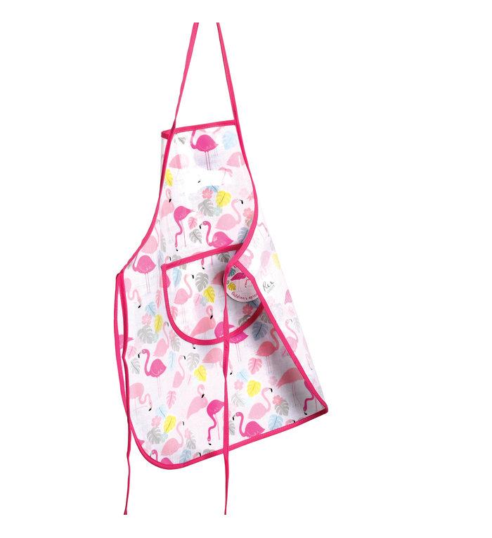 Rex London Kookschort of knutselschort met flamingo design voor kinderen
