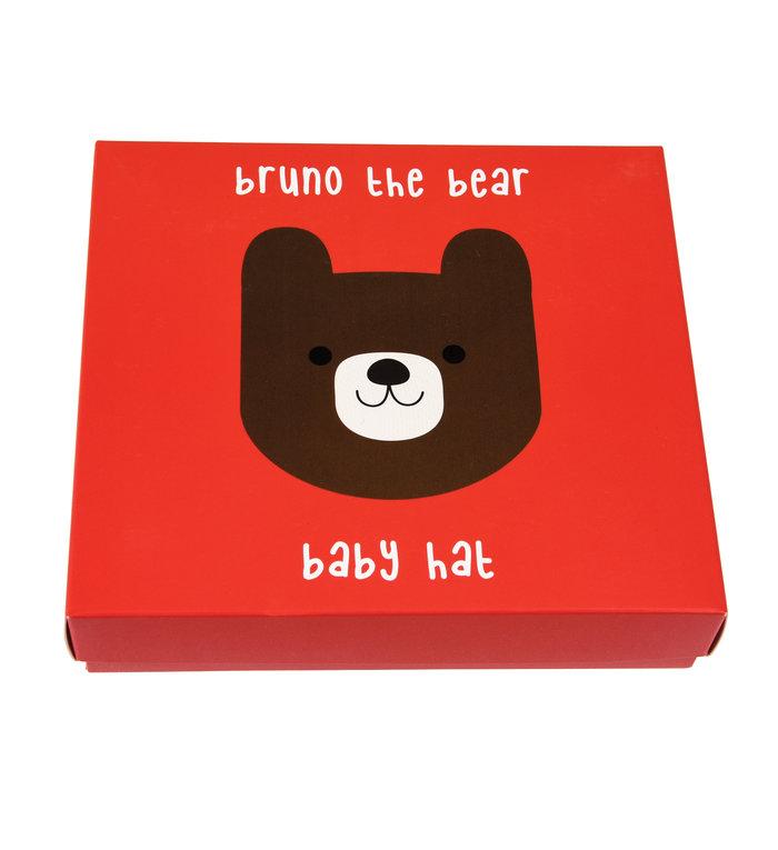Rex London Bruno de Beer bruin baby mutsje