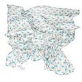 Rex London Inbakerdoek / hydrofiele luier met blauwe olifantjes