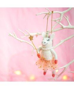 Eenhoorn Fee Kerstboomhanger