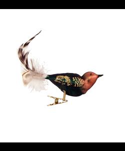 Donkergroene en Bruine Vogeltjes met Kerstboomknijper