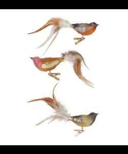 Kerstboom Vogeltjes in Natuurlijke kleuren  met knijpertje