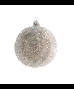 Zilveren Kerstbal Gesuikerd