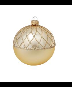 Gouden Kerstbal met Chique Goud Design