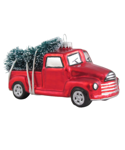 Vintage Pick-up Auto met Kerstboom