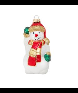 Zwaaiende Sneeuwpop Kerstboomhanger