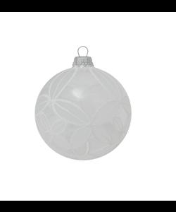 Transparante Kerstbal met Chique Wit Design
