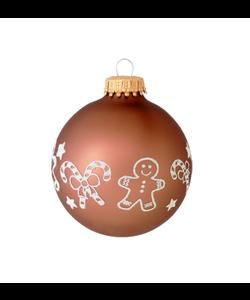 Kerstballen Bruin met Zuurstokken en Peperkoek Mannetjes