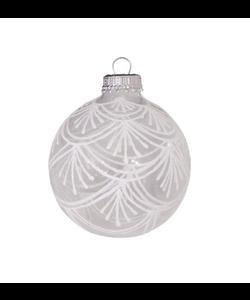 Kerstballen Transparant met Chique Witte Decoratie