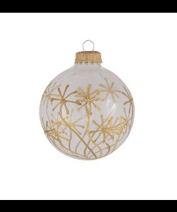 Doorzichtige Kerstballen Transparant met Gouden Sterren
