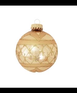 Kerstballen Goud met Gouden Glitterband