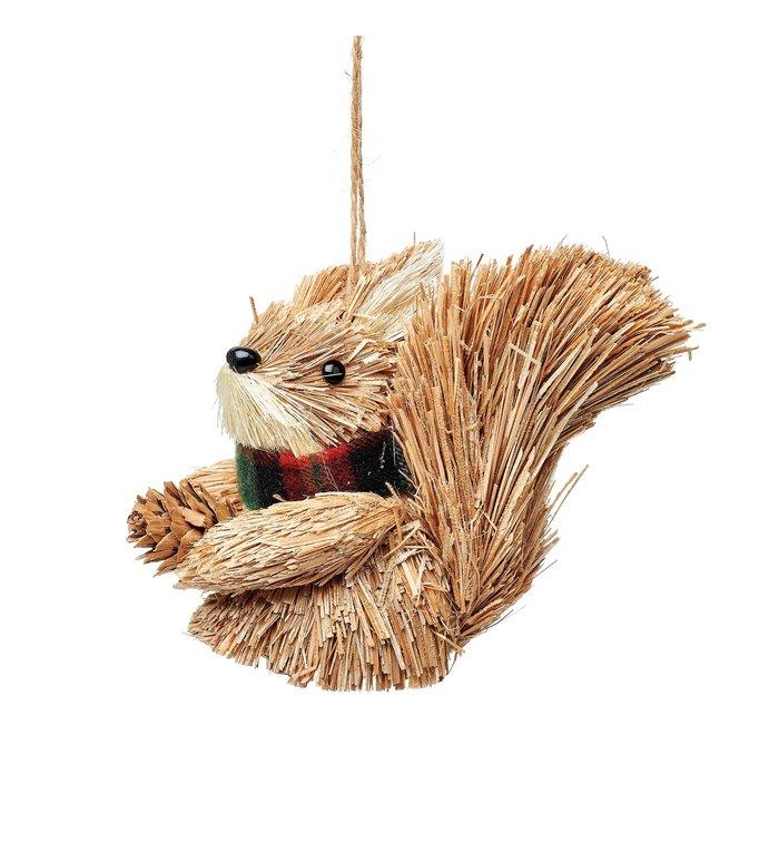 Sass & Belle Eekhoorn kerstboomdecoratie van geborsteld materiaal
