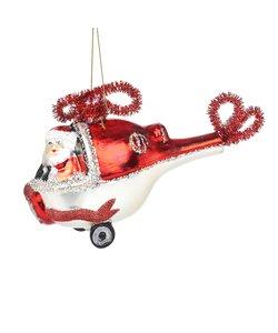 Kerstman in Helikopter Kersthanger