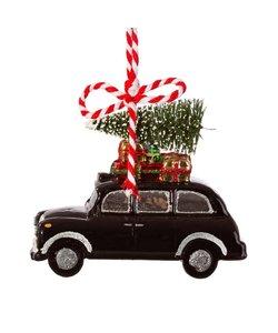 Zwarte Londense Taxi Kersthanger