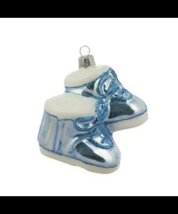 Blauwe Babyschoentjes - Baby's eerste Kerstfeest kersthanger