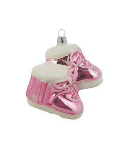 Roze Babyschoentjes - Baby's eerste Kerstfeest kersthanger