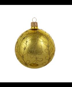 Gouden Kerstballen met Gouden Glitter Strikjes decoratie