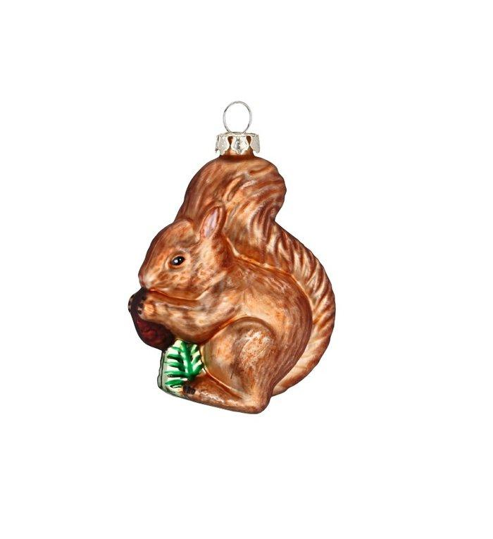 Kersthanger bruine eekhoorn kerstboom decoratie