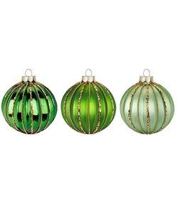 Kerstballen Drie Kleuren Groen