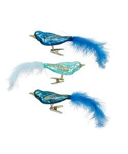 Kerstboomdecoratie Vogeltjes Blauw, Groen en Turquoise