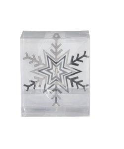 Set van 3 - Zilveren Sneeuwvlokken 3D Kersthangers