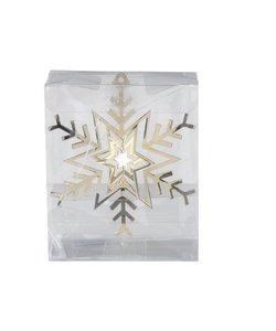 Set van 3 - Gouden Sneeuwvlokken 3D Kersthangers