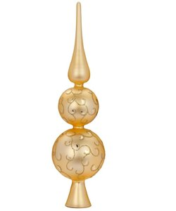 Kerstboom Piek Goud met Stijlvolle Gouden Decoratie