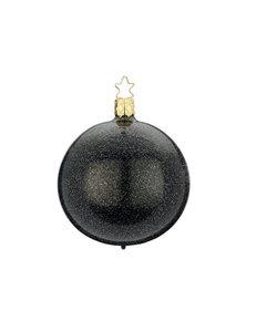 Kerstbal Zwart met Chique Glitter Effect