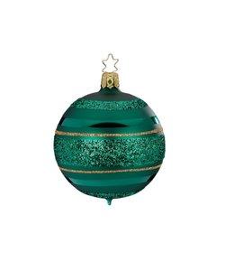 Kerstbal Bos Groen met Glitterlijnen
