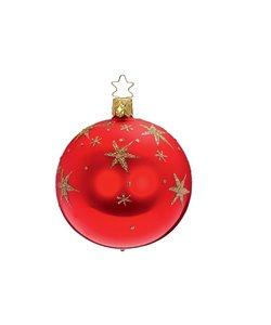 Kerstbal Sterrenhemel Rood en Goud