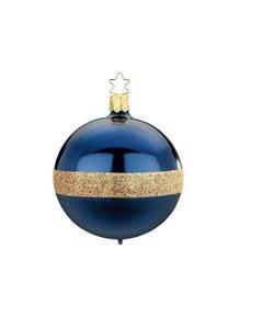 Kerstbal Twin Blauw en Goud